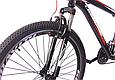 """Подростковый велосипед CROSSRIDE """"SKYLINE"""" 24"""" с крепкой стальной рамой, Черно-красный, фото 4"""