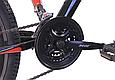 """Подростковый велосипед CROSSRIDE """"SKYLINE"""" 24"""" с крепкой стальной рамой, Черно-красный, фото 6"""