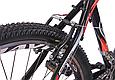 """Подростковый велосипед CROSSRIDE """"SKYLINE"""" 24"""" с крепкой стальной рамой, Черно-красный, фото 7"""