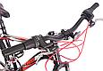 """Подростковый велосипед CROSSRIDE """"SKYLINE"""" 24"""" с крепкой стальной рамой, Черно-красный, фото 8"""