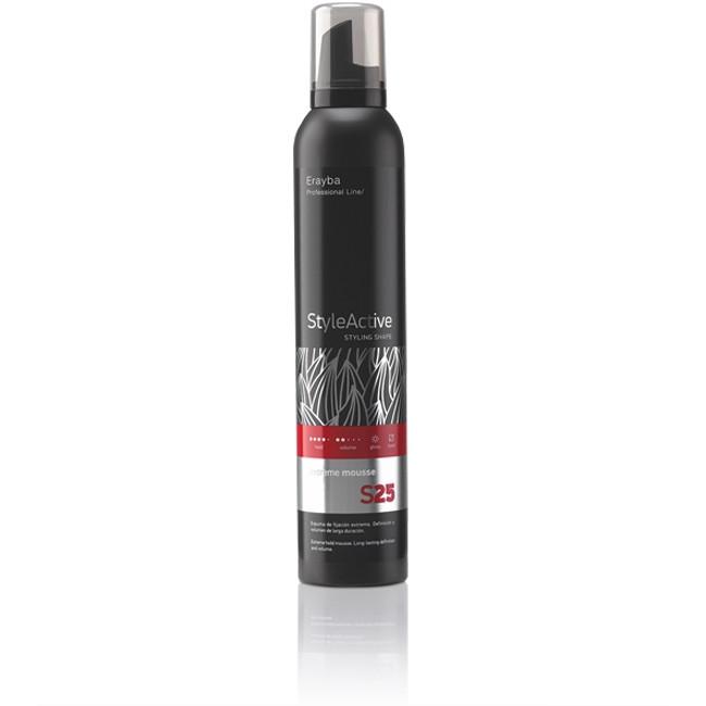 Пена для волос сильной фиксации Erayba S25 Extreme Mousse 300 мл