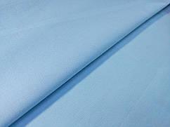 Коттон твил рубашечный, бледно-голубой