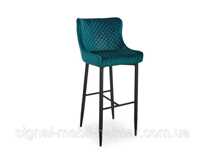 Барный стул Colin B H-1 Velvet зеленый  (Signal)