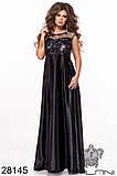 Длинное комбинированное женское вечернее платье 42-44,44-46р (3расцв), фото 10