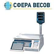 Весы электронные с термопечатью CAS LP-R (в. 1.6) RS-232 со стойкой (6 кг, 15 кг, 30 кг)
