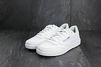 Мужские кроссовки в стиле Reebok Club C White, белые 41 (26 см)