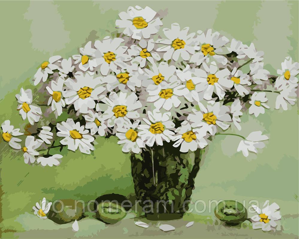 Картина раскраска Натюрморт с ромашками (BRM8035) 40 х 50 ...