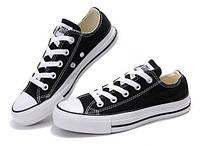 Мужские кеды в стиле Converse, черные с белым 44 (28 см)