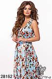 Шикарное женское длинное платье с цветочным принтом на сетке 42-44,44-46р (5расцв)  , фото 2
