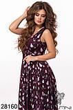 Шикарное женское длинное платье с цветочным принтом на сетке 42-44,44-46р (5расцв)  , фото 6