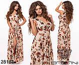 Шикарное женское длинное платье с цветочным принтом на сетке 42-44,44-46р (5расцв)  , фото 7