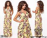 Шикарное женское длинное платье с цветочным принтом на сетке 42-44,44-46р (5расцв)  , фото 9