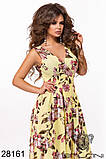 Шикарное женское длинное платье с цветочным принтом на сетке 42-44,44-46р (5расцв)  , фото 10