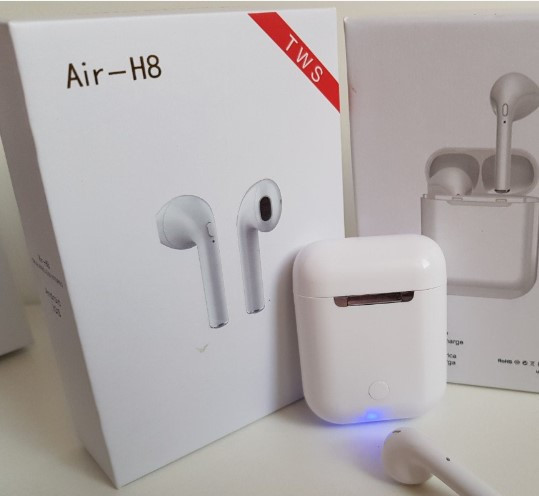 Беспроводные bluetooth наушники Air-H8 TWS. Абсолютный аналог Apple Airpods!