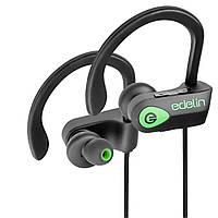 Наушники за ухо вакуумные водонепроницаемые спортивные (для бега, йоги, фитнеса) IOS / Android (Edelin 1.2)