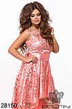 Асимметричное женское атласное платье с вышивкой на сетке 42-44-46р (5расцв), фото 8