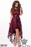Асимметричное женское атласное платье с вышивкой на сетке 42-44-46р (5расцв), фото 10
