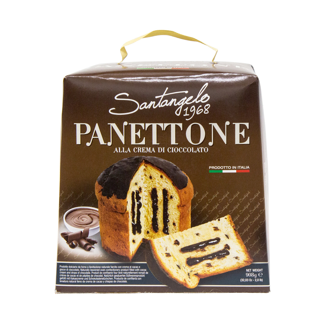 Паска Santangelo PANETTONE alla creme di cioccolato, 908г 8060, 6 шт/ящ