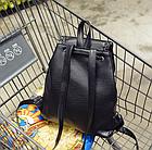 Рюкзак женский чёрный PU кожзам. 28 см - 29 см. - 12 см., фото 8