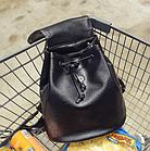 Рюкзак женский чёрный PU кожзам. 28 см - 29 см. - 12 см., фото 9