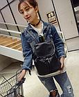 Рюкзак женский чёрный PU кожзам. 28 см - 29 см. - 12 см., фото 10