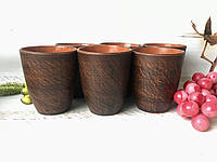 Набор стаканов из красной глины 300 мл (6 шт)
