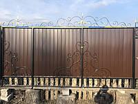 Кованые ворота для частного дома (изготовление кованных ворот по замерам заказчика)