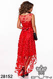 Асимметричное женское атласное платье с вышивкой на сетке42-44-46р (5расцв), фото 4