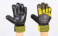 Перчатки вратарские с защитными вставками на пальцы FB-903-2
