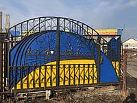 Металлические кованые ворота для гаража