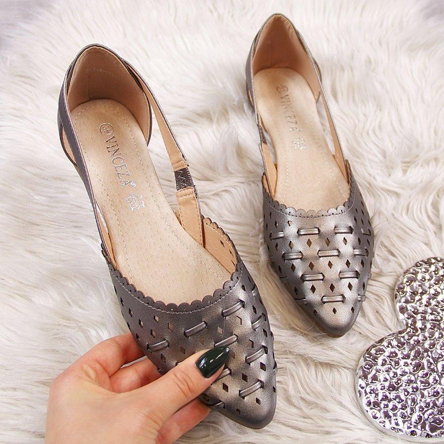d8055f57a0566 Балетки женские ажурные плетеные серебряные Vinceza: продажа, цена в ...