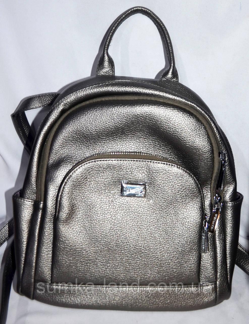 81d0374f0d92 Женский маленький рюкзак-сумка из кожзама 27*28 см (графит), цена ...