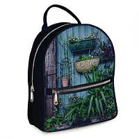 Рюкзак 3D міський чорний Таємниця (черный рюкзак с цветами)