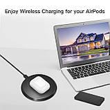 Пластиковий Кейс для Apple AirPods з можливістю бездротової зарядки Захисний чохол Wireless Charging Case, фото 9