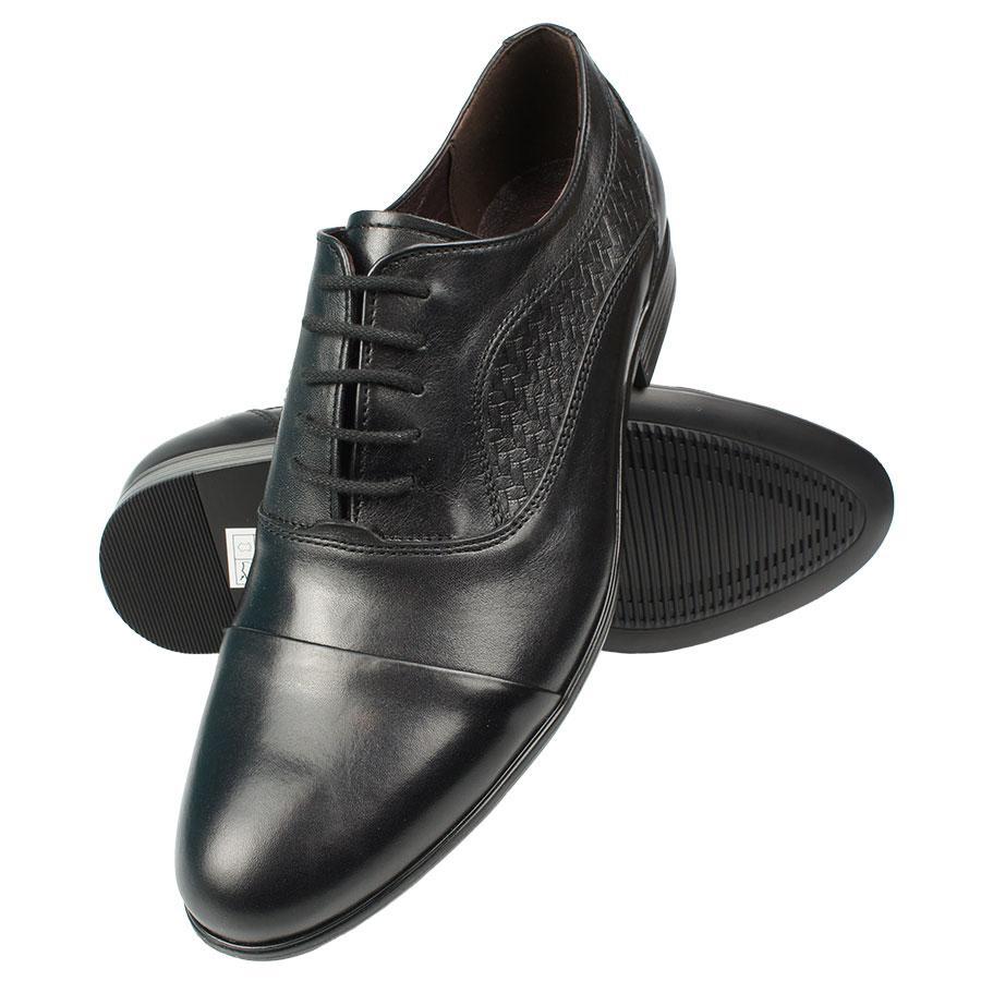 Класичні чоловічі туфлі BUCCI 381/6 / F13 Gzarny чорного кольору