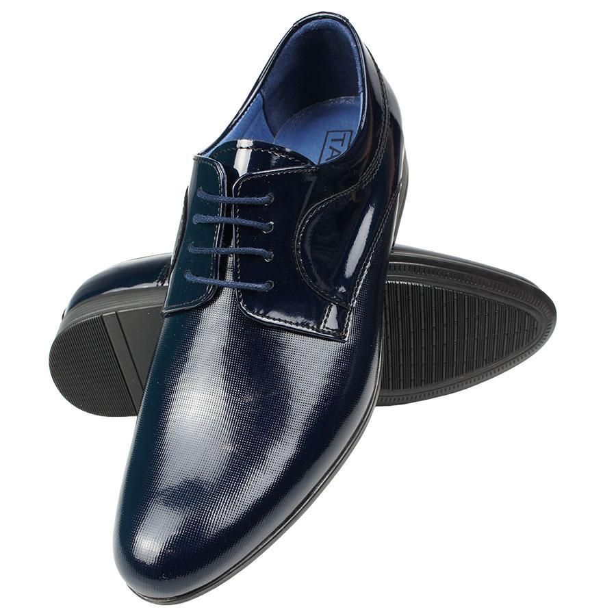 Чоловічі лакові класичні туфлі Tapi A-5098 D.Blue
