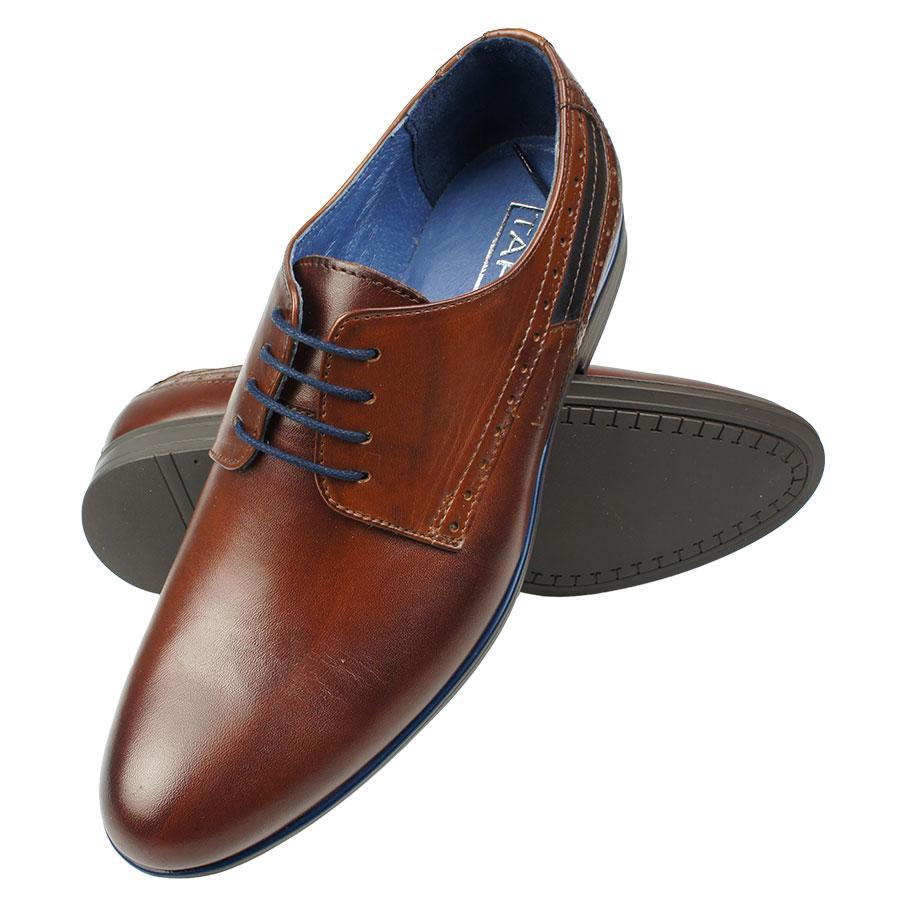 Чоловічі класичні туфлі Tapi A-6329 Brazowy