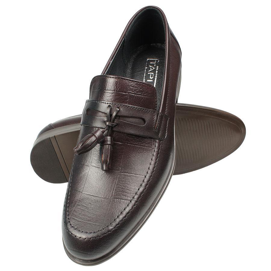 Чоловічі класичні літні туфлі Tapi C-6361 Bordo бордового кольору
