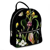 Рюкзак 3D міський чорний Нічні квіти (черный рюкзак с цветами)