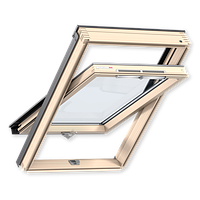 Мансардное окно VELUX Оптима GZR 3050B, ручка снизу, дерево/лак, 66х98