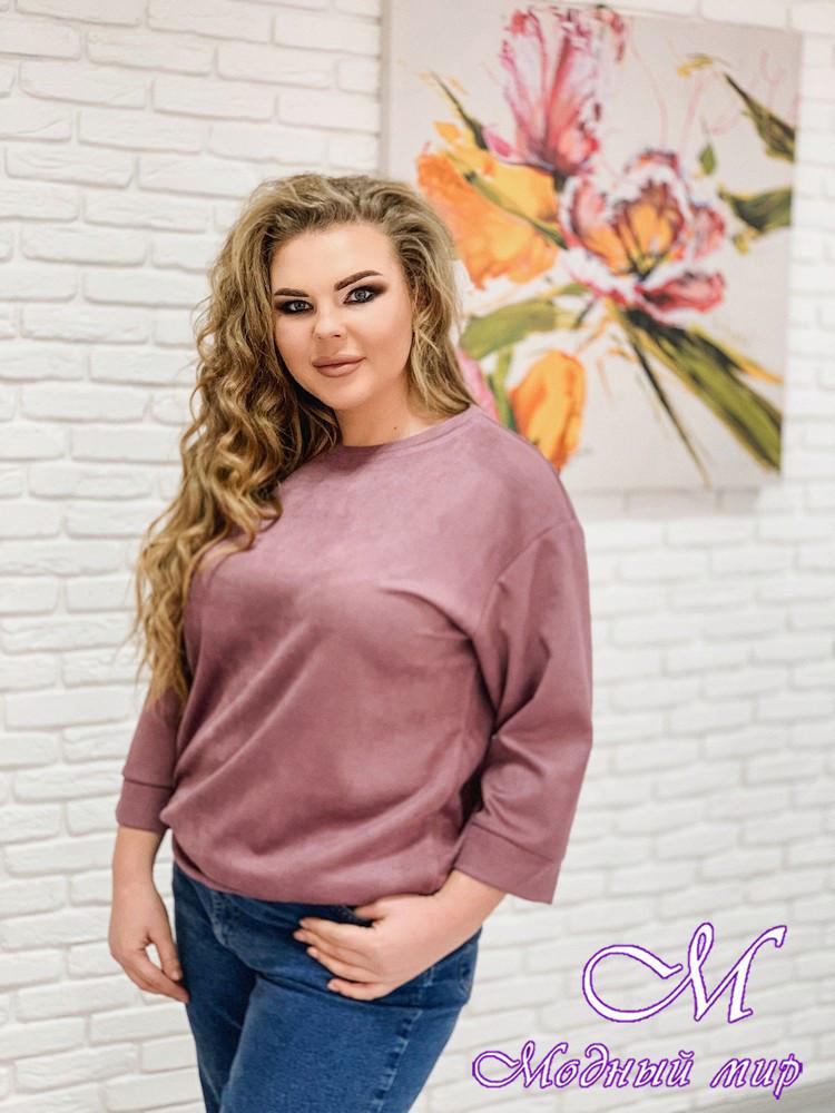 Женская розовая туника большого размера (р. 48-90) арт. Style