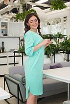 """Ассиметричное платье-миди  """"Bess"""" на пуговицах с карманами (3 цвета), фото 2"""