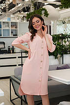 """Ассиметричное платье-миди  """"Bess"""" на пуговицах с карманами (3 цвета), фото 3"""