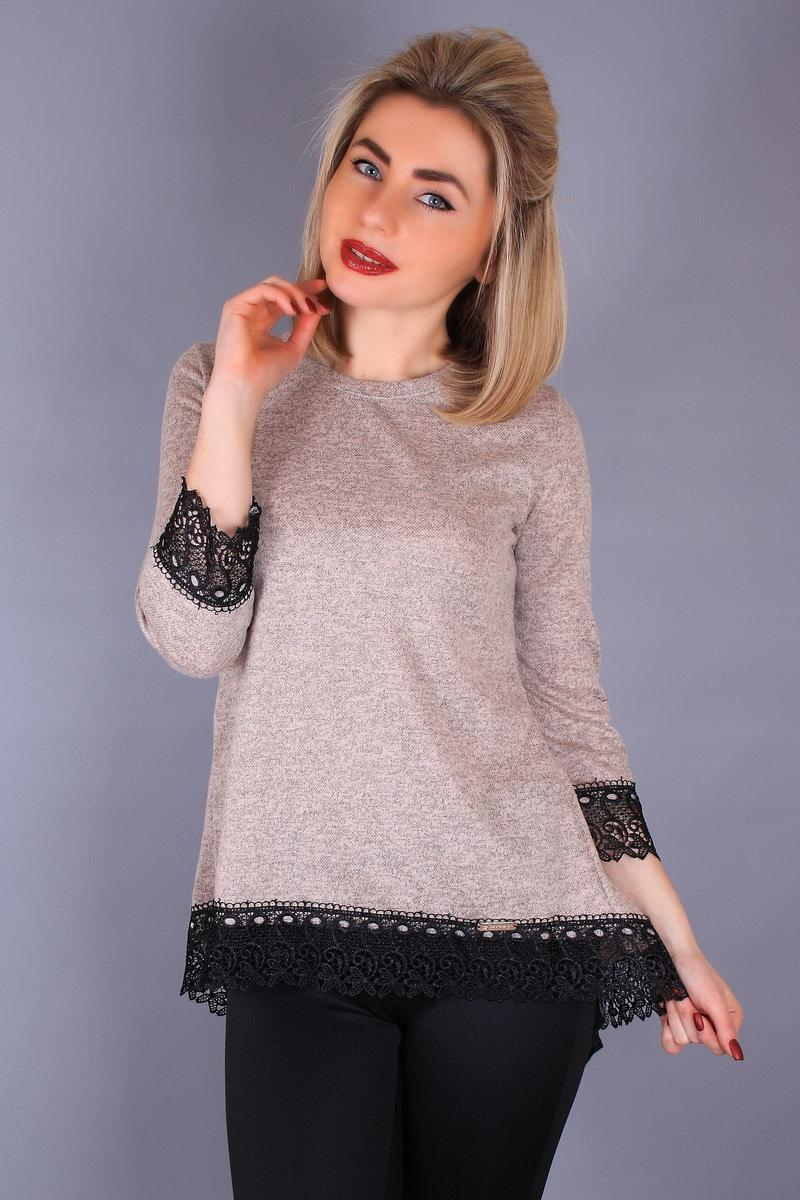 Блуза Змека-кружево 48-54 пудра