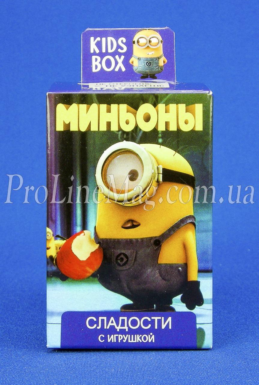 Кидз Бокс Миньоны мармелад с игрушкой в коробочке