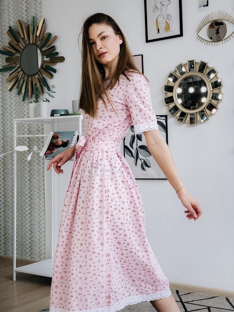 Женское  платье миди №130-2306