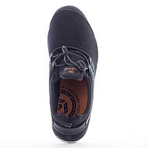 Мужские летние кроссовки Restime PMB19706 BLACK, черные, сетка, фото 2