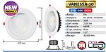 Светодиодный светильник Vanessa-30 (30 Вт встраиваемый ) , фото 2