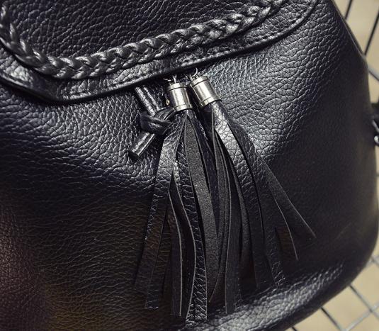 Рюкзак женский чёрный кожзам