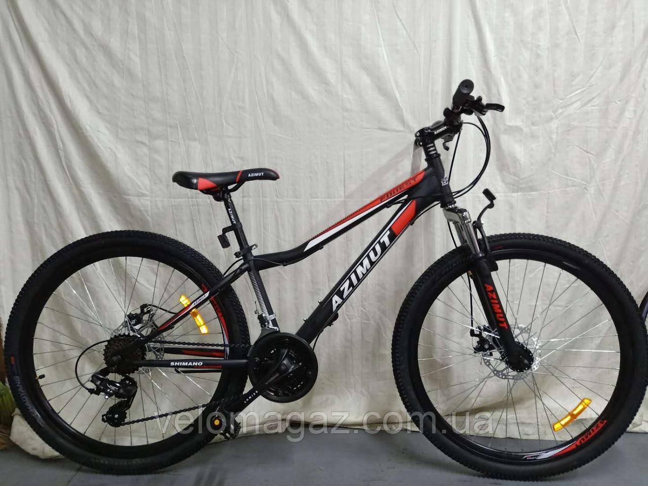 """Велосипед горный AZIMUT """"Forest"""" 26 """" рама 13"""", черно-красный"""